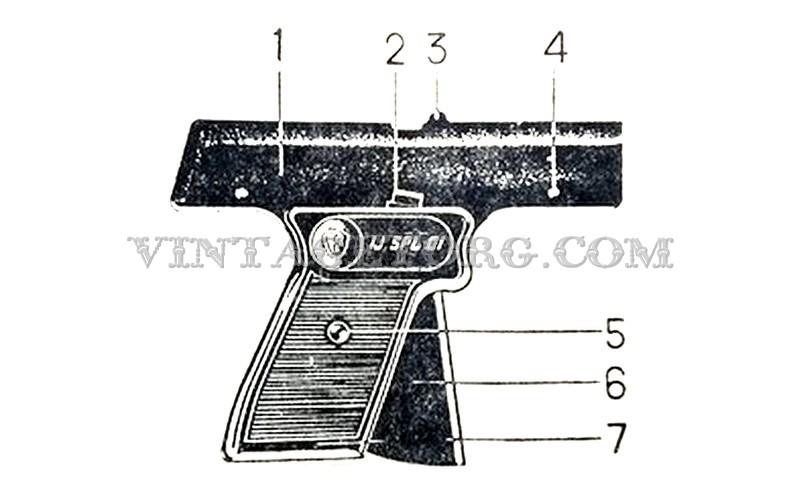 Пистолет стартовый ИЖ СПЛ 01 рисунок 1